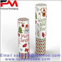 2018 new Christmas gift packaging boxes, paper tube packaging can be used as candy or chocolate packaging Packaging Boxes, Custom Packaging, Gift Packaging, Packaging Design, Round Gift Boxes, Gift Boxes With Lids, Box With Lid, Happ New Year, Packaging Manufacturers