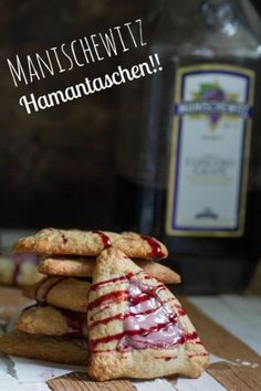 "Manischewitz Hamantaschen. Because ""cursed be Haman"" and ""blessed be Mordechai"" are supposed to be the same, right. (Hush about alcohol baking off. ;) )"