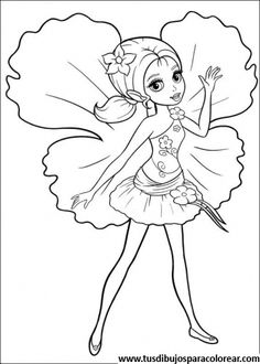 Barbie Pulgarcita Para Colorear Fairy Coloring PagesBarbie PagesPrintable