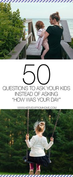 These questions will get your kids talking after a long day at school!