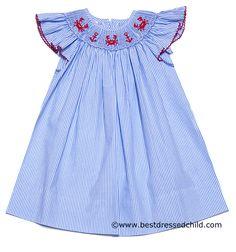 Smocked Horse Bishop Dress