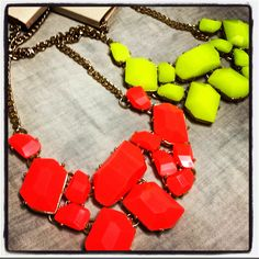 Neon colored necklaces for summer