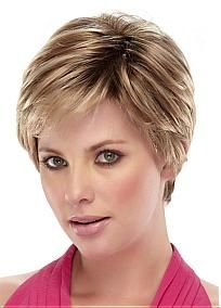 Gorgeous Short  Straight Hand Tied Full Lace 100% Human Hair Fashion Wig