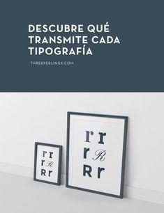 Seguro que has perdido mucho tiempo buscando entre millones de tipografías hasta dar con la adecuada. Descubre qué sensaciones transmite cada tipografía.