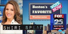 Is @FOX25Shiri of @fox25news Your Favorite #Weathercaster? Vote now! @ http://bit.ly/bosfav