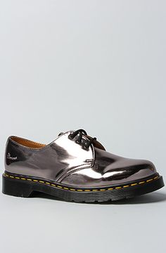 Dr. martens 3 Eye Gibson in Pewter in Silver (pewter) | Lyst