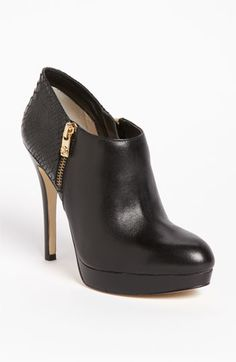 * 174 Michael Kors Black York Bootie Stiletto Ankle Boot with Side Zipper
