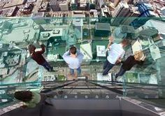 Another view of the Willis Tower Skydeck - it's a LONG way down!