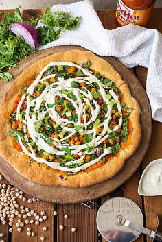 Buffalo Chickpea Ranch Pizza by Yack_Attack, via Flickr