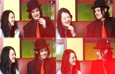 The White Stripes. I would love to know if there's a video of this somewhere! Meg White, Jack White, You Don't Know Jack, The Third Man, The White Stripes, The Great White, Him Band, Shades Of White, Looks Cool