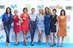 Noemi Redondo Photos - (L-R)  Ana Milan, Sara Escudero, Noemi de Miguel, Raquel Sanchez Silva, Patricia Conde, Paula Vazquez, Noemi Redondo and Sonia Lopez attend the presentation of new season of #0 by Movistar at the at the Escoriaza Esquivel Palace during the FesTVal 2017 on September 6, 2017 in Vitoria-Gasteiz, Spain. - Noemi Redondo Photos - 1 of 3