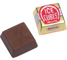 Ice cube chocolates are individually wrapped. These bite-size German chocolates are smooth, creamy, and wonderfully refreshing. Like their namesake, they melt away in your mouth.