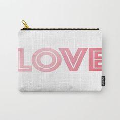 Rosa amor llevar todos monedero bolsa  por ShelleysCrochetOle