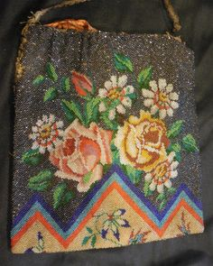 Gorgeous Antique Handmade Beaded Bag As Found by hatstoflats, $159.99