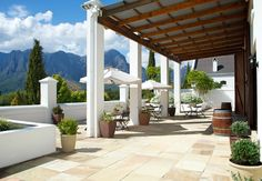 4 Star Hotel in Stellenbosch / Zorgvliet Wines Country Lodge is located between Stellenbosch and Franschhoek, and is ideal for business travelers or a . Our Wedding, Wedding Venues, Wedding Ideas, Wine Country, Cape Town, Wines, Pergola, Outdoor Structures, Travel
