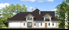 Projekt domu Rezydencja w persymonach 2 - ARCHON+ Home Fashion, Cabin, Mansions, House Styles, Home Decor, Beach Cottages, Mansion Houses, Homemade Home Decor, Manor Houses
