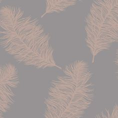 Holden Statement Wallpaper - Fawning Feather Grey and Rose Gold- 12629