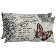 Butterfly Pillows from the Worldly & Wise event at Joss and Main would be lovely with my melon glass lamp & recent furniture picks~