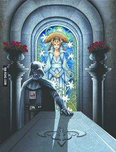 Darth Vader visits Padme's tomb... the feels