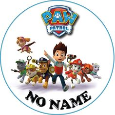 (Paw Patrol Characters) 7.5 inch Edible Icing Cake Topper - NO NAME