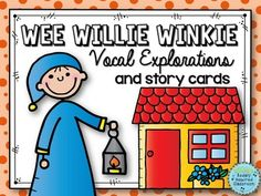 Wee Willie Winkie runs through the town, Upstairs and downstairs in his nightgown.This nursery rhyme is a great addition to music class. This file contains pages that you can project in full color, or print in full color, some color or an ink saving black and white that you can color, to illustrate this favorite nursery rhyme.Lots of possibilities for music and classroom teachers - learn the rhyme, put the cards in order, explore vocal pathways, practice tracing skills, and more!