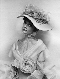 Costume for Audrey Hepburn in 'My Fair Lady' / photo and costume design by Cecil Beaton