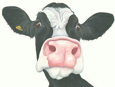 friesian cow painting