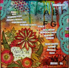 art journal page I created - I have up-close photos of this on my blog - www.justaboutthedetails.com