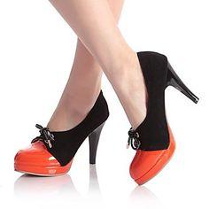 Womens Luxury Duo-Core Orange Heels From Eleganto®