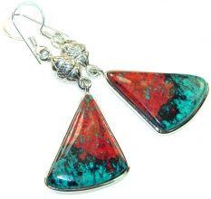 Amazing Red Sonoran Jasper Sterling Silver Earrings