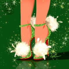 Tinkerbell [as shoes inspired by Christian Louboutin] (As Shoes by GrizAndNorm @Instagram) #PeterPan