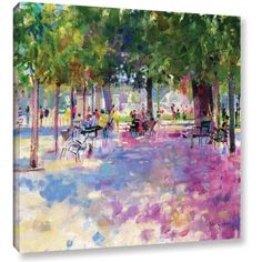 Peter Graham Tuileries, Paris Gallery-Wrapped Canvas Wall Art, Size: 24 x 24, Pink