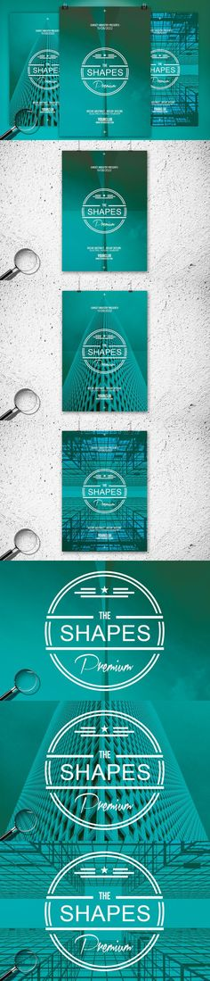 The Shapes | 3in1 Flyer Template