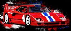 Ferrari f40 – dtcreations automotive art