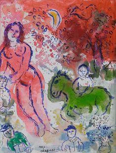 Marc Chagall – Nu Rose, 1980-82