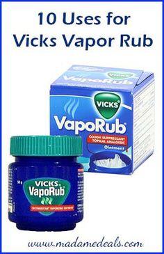 10 Uses for Vicks Vapor Rub/got rid of my toe fungus