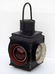 INDIAN RAILWAY COLLECTIBLE RAILROAD 4 WAY SWITCH SIGNAL OIL LANTERN TRAIN LAMP