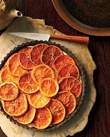 Chocolate Roasted-Orange Tart - Martha Stewart Recipes