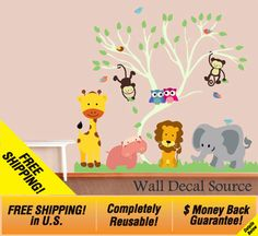 Reusable Wall Vinyl  Nursery Wall Decal   by WallDecalSource, $125.00