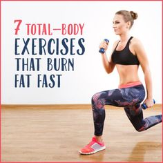 Try these 7 total-body exercises to burn fat today!