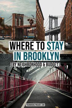 WHERE TO STAY IN BROOKLYN BY NEIGHBORHOOD & BUDGET | Brooklyn hotels | Brooklyn hotels with rooftop pool | Brooklyn hotels with view | Brooklyn Bridge hotels | best Brooklyn airbnb | where to stay in NYC | best brooklyn hotels | things to do in brooklyn | brooklyn NYC | things to do in NYC | best places to stay in Broooklyn | best places to stay in NYC | New York City trip | NYC getaway | Brooklyn getaway | where to go in Brooklyn | DUMBO hotels | Williamsburg hotels #Brooklyn #NYC Brooklyn Dumbo, Brooklyn Nyc, Brooklyn Bridge, Brooklyn Hotels, Nyc Hotels, North America Destinations, Travel Usa, Travel Tips, Us Road Trip