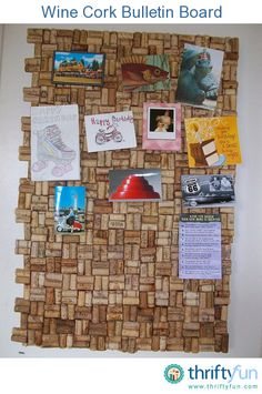 This is a guide about recycled wine cork bulletin board. Wine corks are fun to use in recycled crafts.