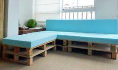 DIY Möbel aus Europaletten bunt platten