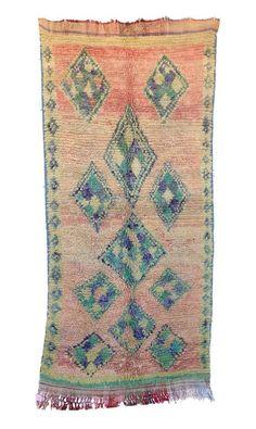 Old Vintage Moroccan Handmade Boujad Boujaad Rug Berber Wool Rug x Berber Carpet, Berber Rug, Etsy Vintage, Vintage Rugs, Types Of Rugs, Pink Rug, Bohemian Rug, Hand Weaving, Ebay