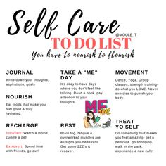 Taking care of yourself is one the most selfless acts you can do. What are you doing today for yourself?