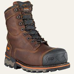 "Timberland | Men's Timberland PRO® Boondock 8"" Soft Toe Work Boots. Size: 13 Medium."
