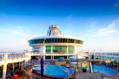 Up with the sun for a pool day onboard Explorer of the Seas.