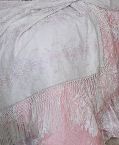 Pretty pink for girls room  Piano Scarf AThrow in Pale Pink