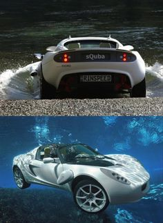 You know what would make this AMAZING!!! If anyone had any sort of practical, or even impractical use of a ridiculously expensive sports car... that also goes under water at extremely slow speeds.
