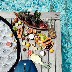 Fruit poolside